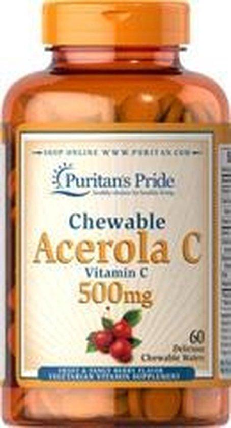 Puritan's Pride Acerola C-500 / 500 mg 60 Zuigtableten 5000