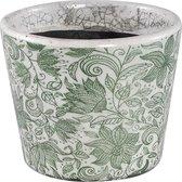 Ptmd suzet groen keramiek vintage patroon pot rond