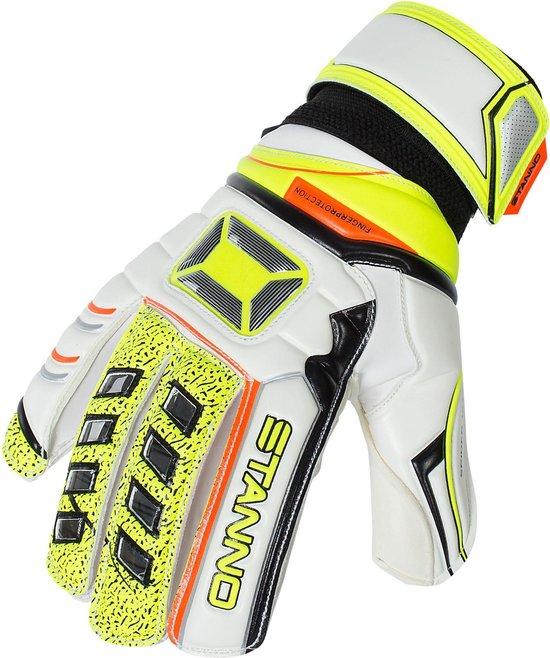 Stanno Fingerprotection JR + Keepershandschoenen - Wit - Maat 4