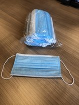 Mondmasker met elastiek 1-laag 100 STUKS wegwerp