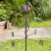 Windhaan als klassieke, metalen windwijzer - set van 3 stuks