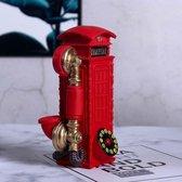 Telephone Booth Spaarpot Beeldje - Huis Decoratie - Decoratie Woonkamer - Decoratie - Rood