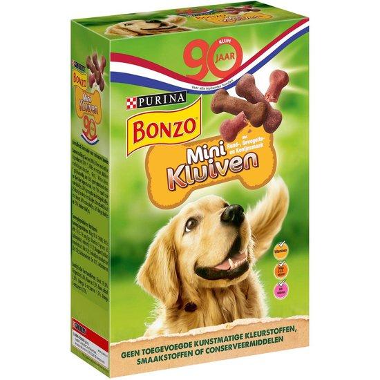bonzo mini kluiven - rund, gevogelte & wild - hondensnack - 6 x 500 g
