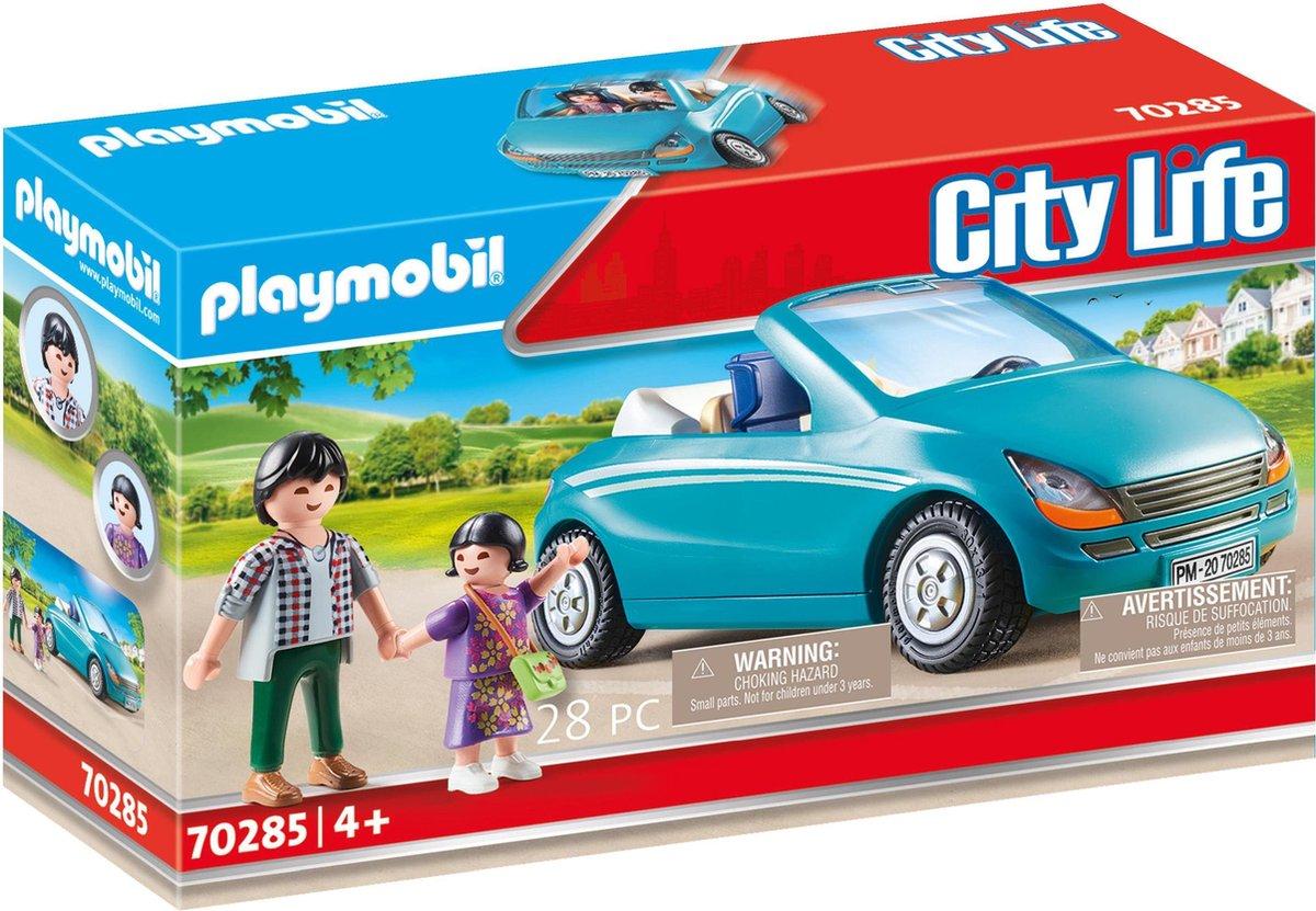 PLAYMOBIL City Life Papa met meisje en cabrio - 70285
