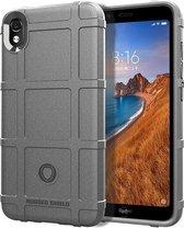 Schokbestendige beschermhoes Volledige dekking Siliconen hoesje voor Xiaomi Redmi 7A (grijs)