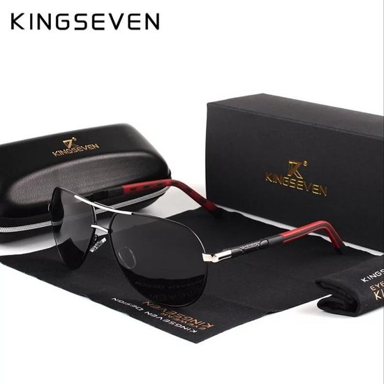 Kingseven Vintage - Met UV400 en polarisatie filter