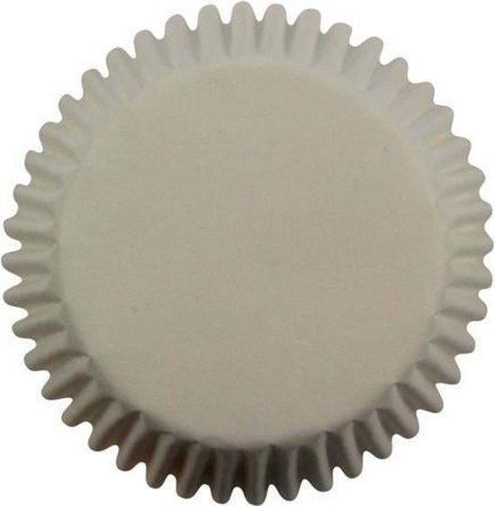 PME - Mini Cupcakevormpjes - Wit - Papier - Set/100
