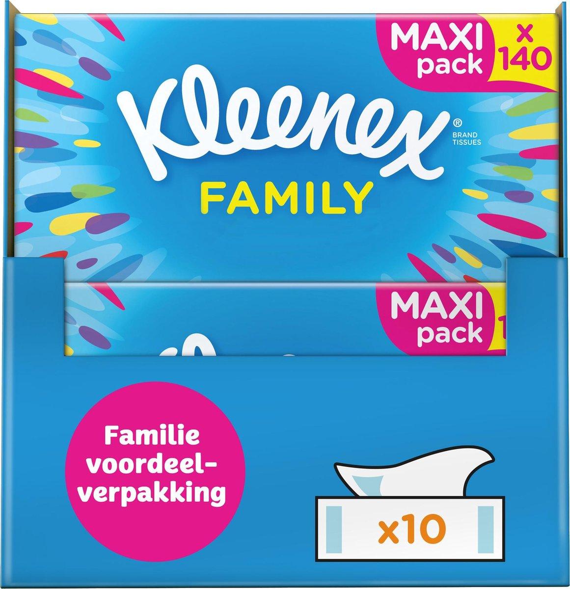 Kleenex tissues - Family Box - Voordeel - 1400 zakdoekjes