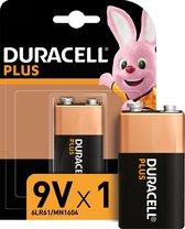 Duracell Plus alkaline 9V-batterijen, verpakking van 1