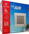 IVC Air ventilator | Original 100 | Ø 100 mm | capaciteit 98 m³ / uur | met nalooptimer | met tochtlamellen | geschikt voor ruimtes tot 10 m² | wit