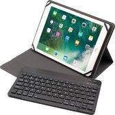Alcatel 1T 10 inch case - Universele Bluetooth toetsenbord hoes - Zwart