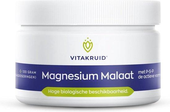 Vitakruid Magnesium Malaat 120 gram - Vitakruid