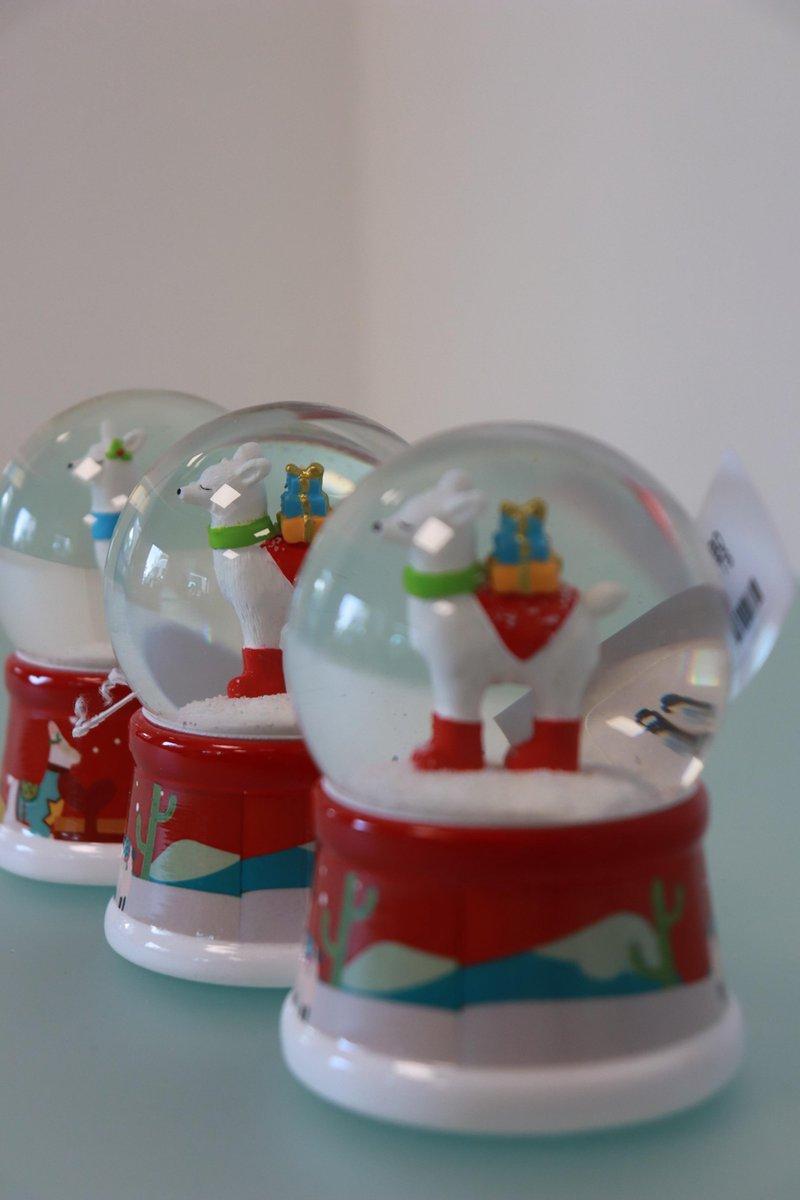 Set van 3 Sneeuwbollen met rendier kopen
