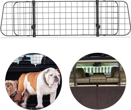 relaxdays hondenrek auto - universeel - autorek hond - kofferbak - bagagerek - verstelbaar