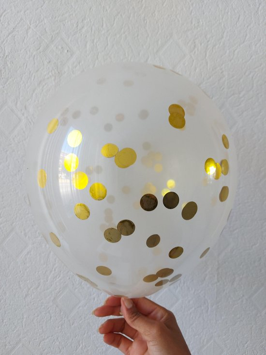 20 Gouden Confetti Ballonen (30cm) - 3 gram confetti