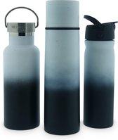 Retulp Voordeelpakket Sustainable Black/White - Thermosfles - Drinkfles