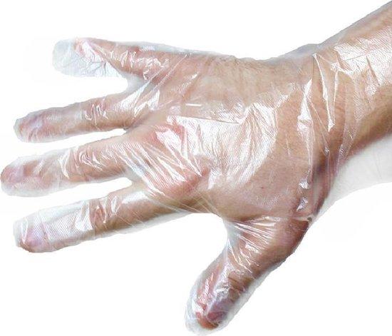 200 Stuks Plastic Wegwerp Handschoenen Voordeelverpakking - Wegwerp - Transparante plastic wegwerphandschoenen Large 2 x 100st Voordeelverpakking