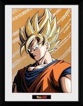 Gb Eye Poster In Lijst Dragonball Z Goku Geel 30 X 40 Cm