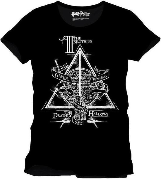 Harry Potter The Brothers Deathly Hallows Black TShirt XL