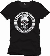 TERMINATOR - T-Shirt GENISYS T800 BADGE - BLACK (S)