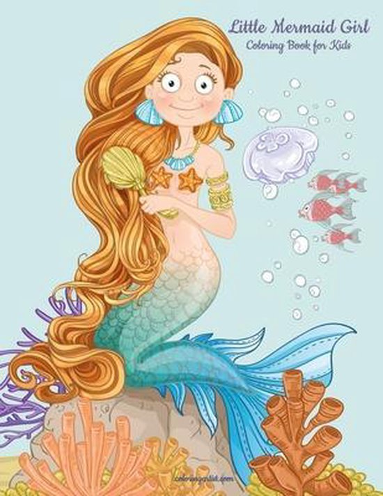Little Mermaid Girl Coloring Book for Kids