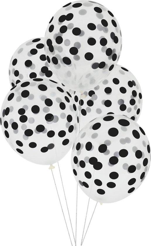 My Little Day - Ballonnen - Bollen zwart - set 5 - 30cm