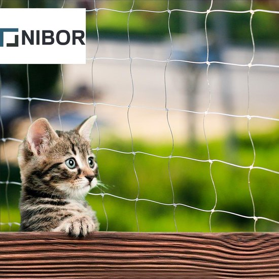 Nibor® Bijtsterk Kattennet voor Balkon of Tuin