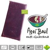 Acai met guarana bevroren fruit puree (pulp) BIO - Premium kwaliteit - Acai fine fruits club - 4 kg (40 x 100 g)