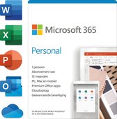 Microsoft 365 Personal - Nederlands - 1 jaar abonnement
