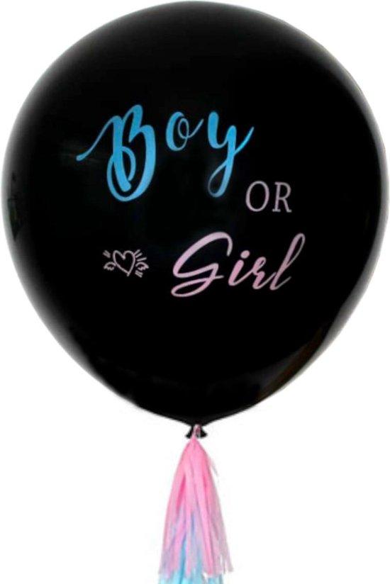 Gender Reveal Ballon 90 Centimeter Babyshower Feestpakket Incl Confetti