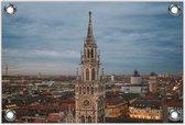 Tuinposter –New Town Hall - Duitsland -60x40  Foto op Tuinposter (wanddecoratie voor buiten en binnen)