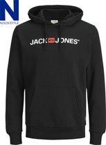 Jack & Jones - JJECORP OLD LOGO SWEAT HOOD NOOS - Black - Mannen - Maat XL