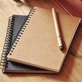Notitieboek | Schetsboek | 2 stuks | Zwart en Bruin