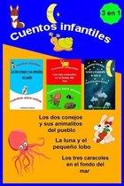 Cuentos infantiles 3 en 1 Los dos conejos y sus animalitos del pueblo La luna y el pequeno lobo Los tres caracoles en el fondo del mar