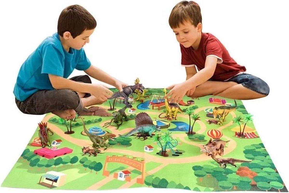Dinosaurus Speelgoed Pakket: 9 Dinosaurussen 2 Speelbomen & Speelmat!