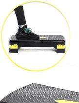 Aerobic Fitness Step XQ Max - Verstelbaar in hoogte - Antislip stepoppervlak - Zwart + Geel