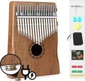 Professionele Kalimba - Elektrisch & Akoestisch - Incl. Gratis Hardcase & 7 Accessoires - Duimpiano - 17 Tonen - Mbira - Muziekinstrument - E Shoppr®