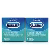 Durex Condooms Classic Natural 6 condooms (2x3)