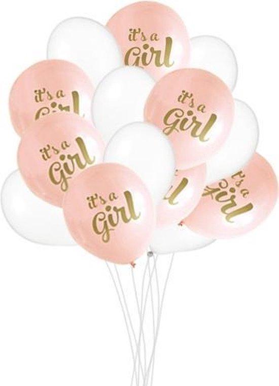 Babyshower Versiering Meisje - It's a Girl Ballonnen - Geboorte Versiering Meisje