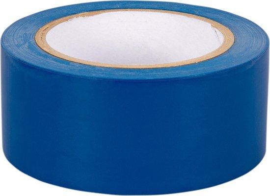 Markeringstape blauw 50mm x 33m 1 rol + Kortpack pen (021.0428)