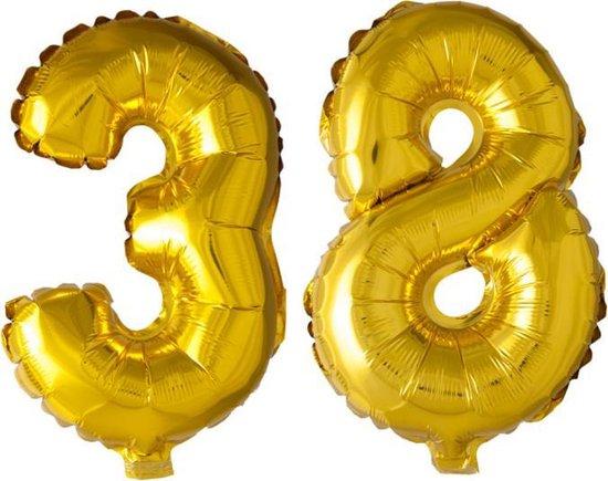 Folieballon nr. 38 Goud 41cm