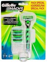 Gillette Mach3 Sensitive Voordeelpakket (with 4 Blades)