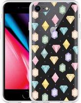 iPhone 8 Hoesje Diamonds