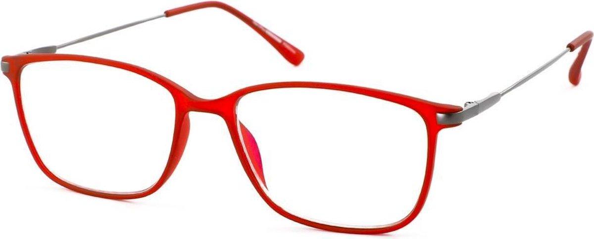 Leesbril Ofar Office Multifocaal CF0002C rood met blauwlicht filter +1.00 kopen