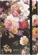 16 maanden Agenda Midnight Floral 2020-2021