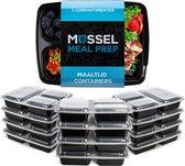 Meal Prep Bakjes – 10 Stuks - 3 Compartimenten – 1000ml - BPA Vrij - Diepvriesbakjes – Mealprep - Vershoudbakjes – Magnetron bakjes – Magnetron Bakjes Met Deksel – Maaltijd Bakjes – Meal Prep Container