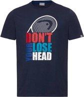 HEAD Club Return T-Shirt Junior Blauw maat 176