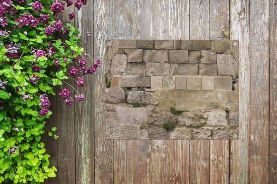 Bol Com Tuinposter Antieke Stenen Muur Gemetselde Antieke Stenen Muur Tuinposter 80x60 Cm