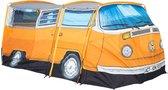 Volkswagen Bus Tent Officiële Design T2 Vw Camper Uit 1965 398 Cm X 147 Cm X 155 Cm - Oranje - 4 Persoons
