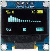 Mini OLED display blauw/geel 0.96 inch 128x64 pixels I2C voor Arduino | ESP32 | ESP8266 | Raspberry Pi